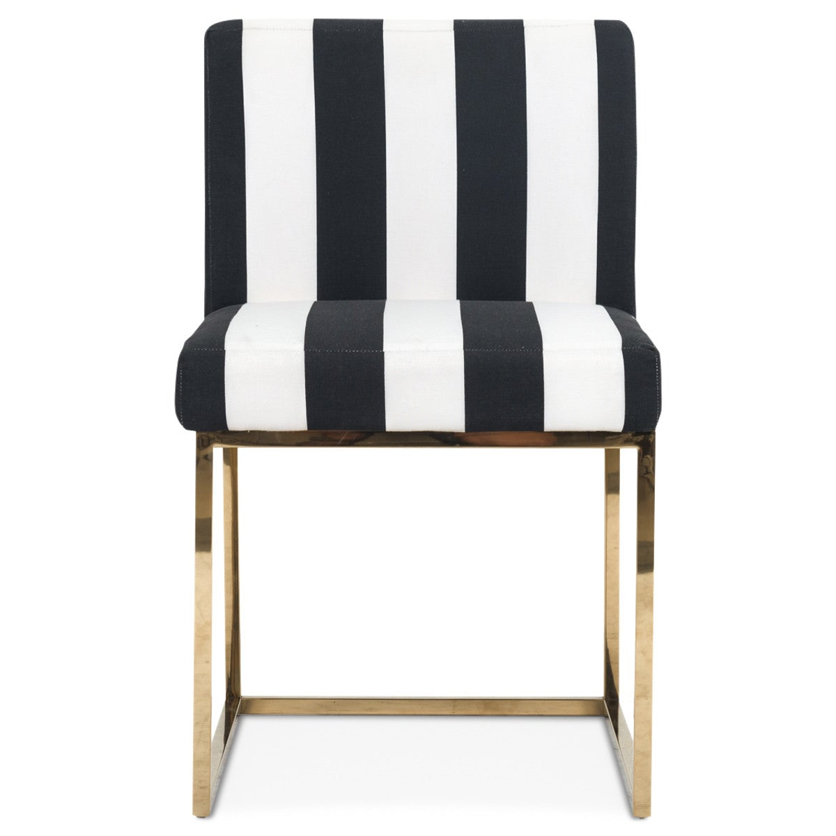 Modern Black And White Striped Dining Chair Modshop