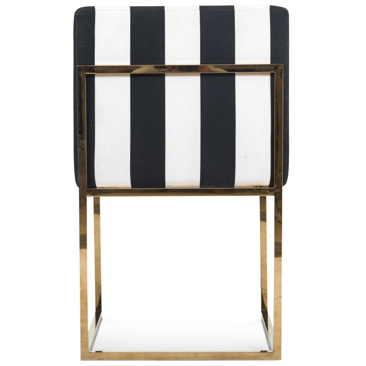 Black And White Dining Chair: Modern Black And White Striped Dining Chair