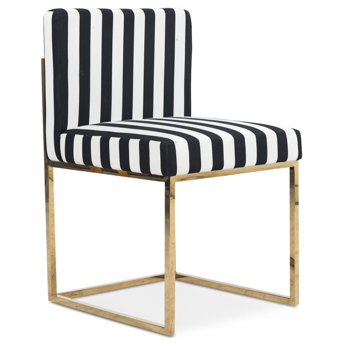 Superieur 007 Dining Chair In Black And White Stripes