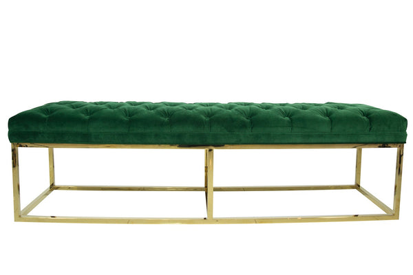 007 Bench in Emerald Velvet - ModShop1.com