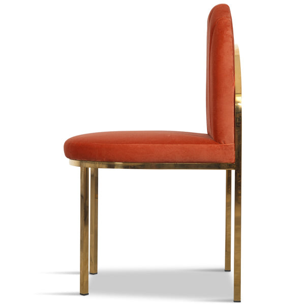 008 Dining Chair in Channel Tufted Velvet