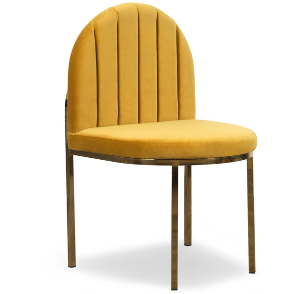 008 Dining Chair in Channel Tufted Velvet - ModShop1.com