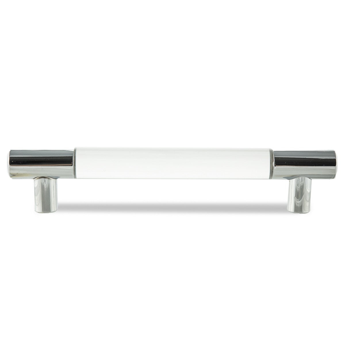 "1"" Lucite and Chrome Round Bar Pull Set of 2 - ModShop1.com"