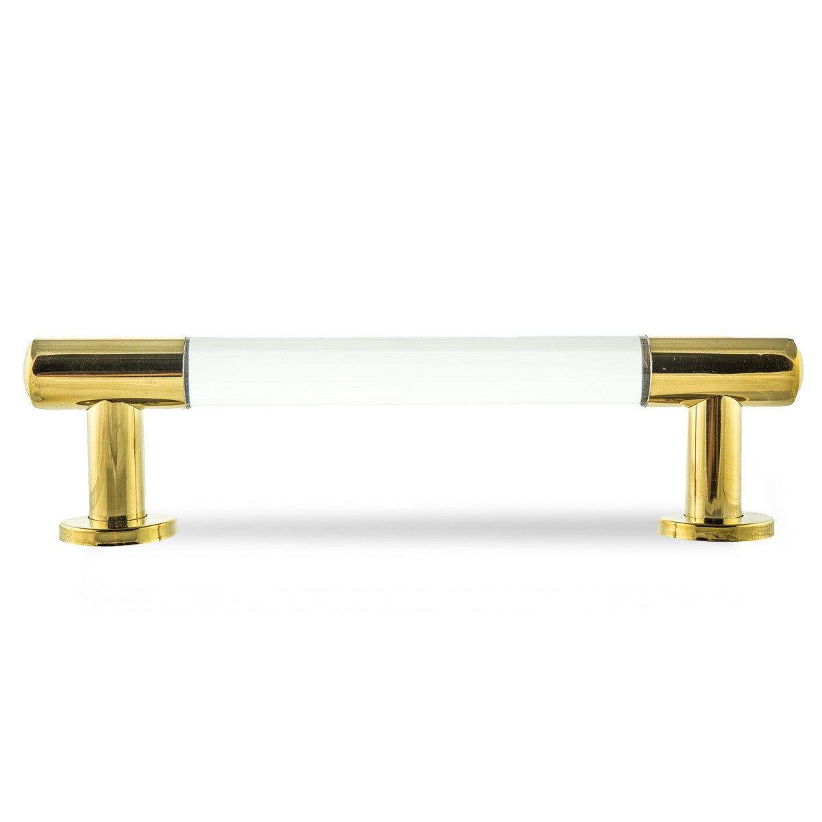 "1"" Lucite and Brass Round Bar Pull Set of 2 - ModShop1.com"