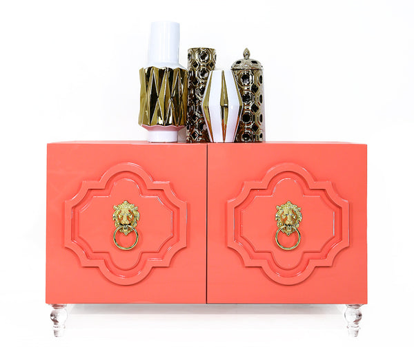 2 Door Marrakesh Credenza in Coral