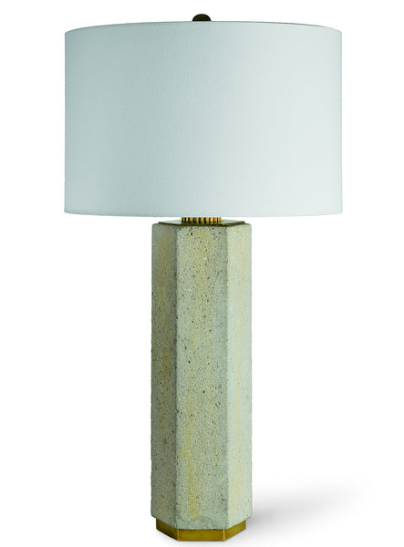 Concrete and Brass Gear Lamp