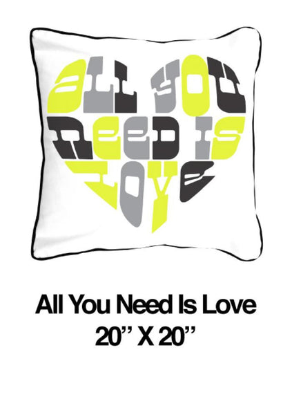 All You Need Is Love Heart Yellow