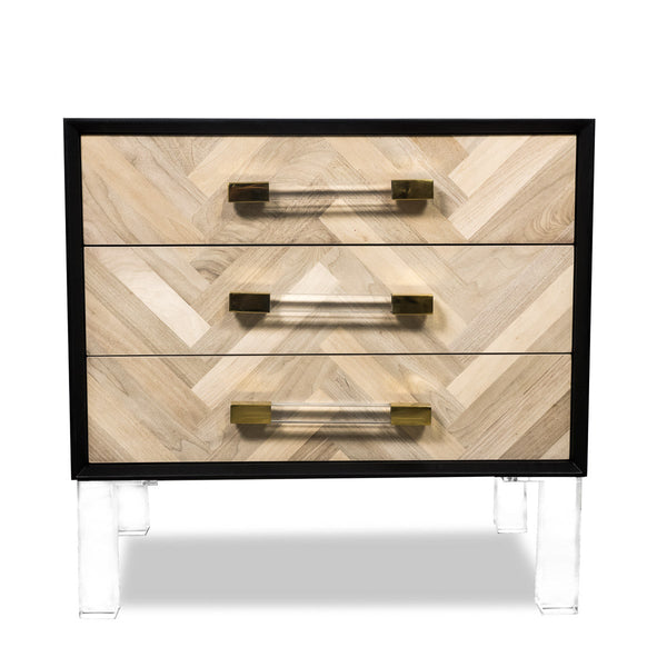 Amalfi 3 Drawer Side Table - ModShop1.com