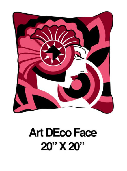 Art Deco Face Pink