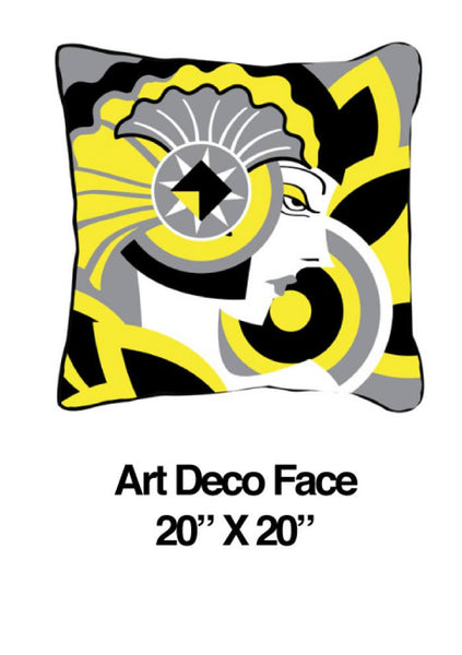 Art Deco Face Yellow