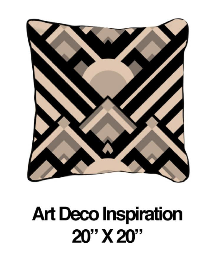 Art Deco Inspiration Black Oatmeal - ModShop1.com