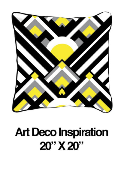 Art Deco Inspiration Yellow - ModShop1.com