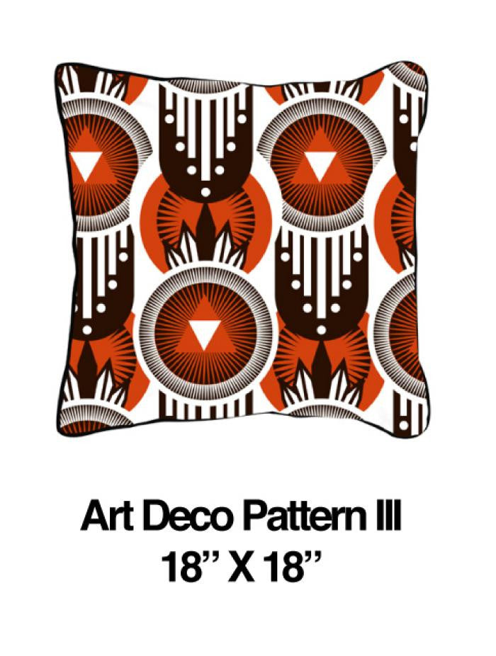 Art Deco Pattern Orange - ModShop1.com