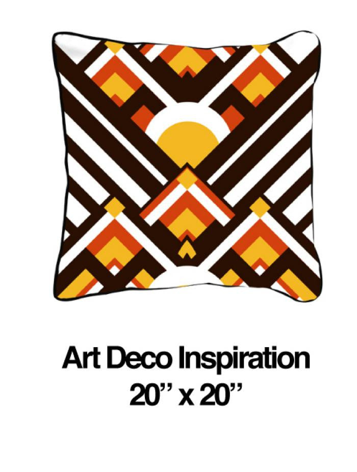 Art Deco Inspiration Orange - ModShop1.com