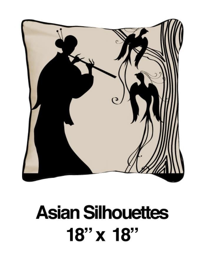 Asian Silhouettes Black Oatmeal - ModShop1.com
