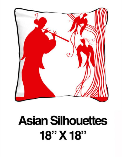 Asian Silhouettes Red