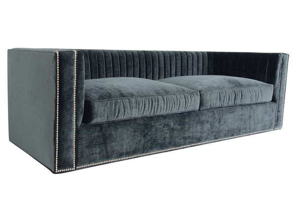 Buenos Aires Sofa in Charcoal Velvet - ModShop1.com