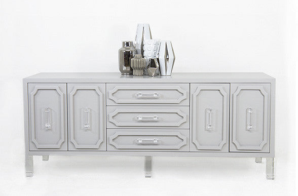 Hollywood Credenza in Silver Grey