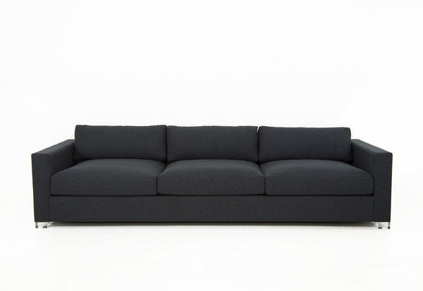 Shoreclub Sofa in Charcoal Linen - ModShop1.com