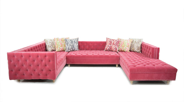 Inside Out New Deep Sectional in Como Romance Velvet