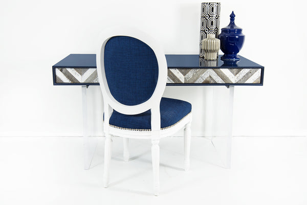 Capri Desk in Navy