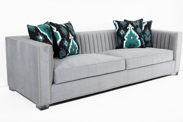 Acapulco Sofa in Cannes Cannon Grey - ModShop1.com
