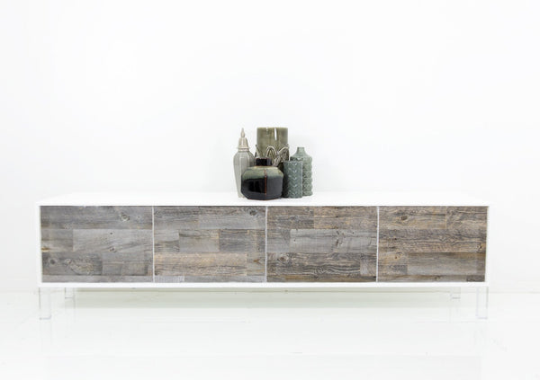 4 Door Cody Credenza with Recycled Wood