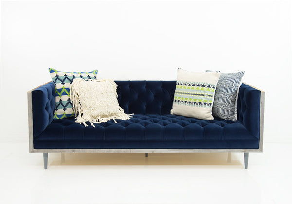 Koenig Cody Sofa in Navy Velvet