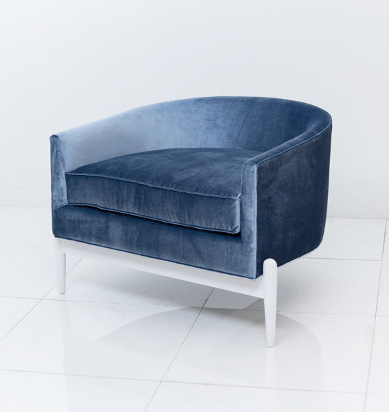 Art Deco Chair in Serenity colored Velvet