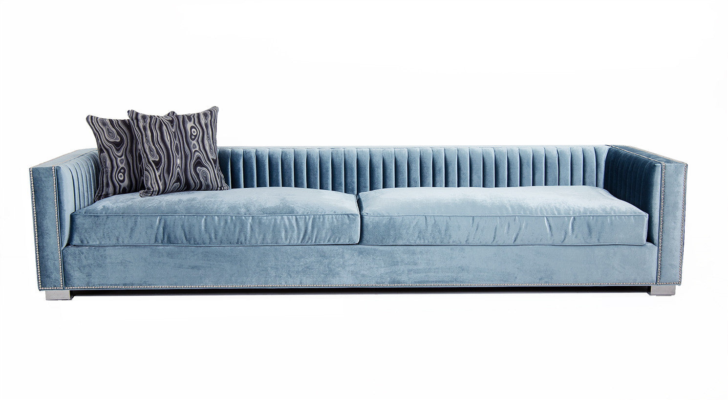 Acapulco sofa in trend denim velvet modshop Denim couch and loveseat