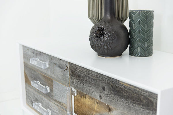 Petite Cody Credenza in Grey Recycled Wood - ModShop1.com