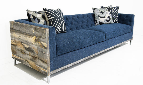 Koenig Cody Sofa in Navy Textured Linen