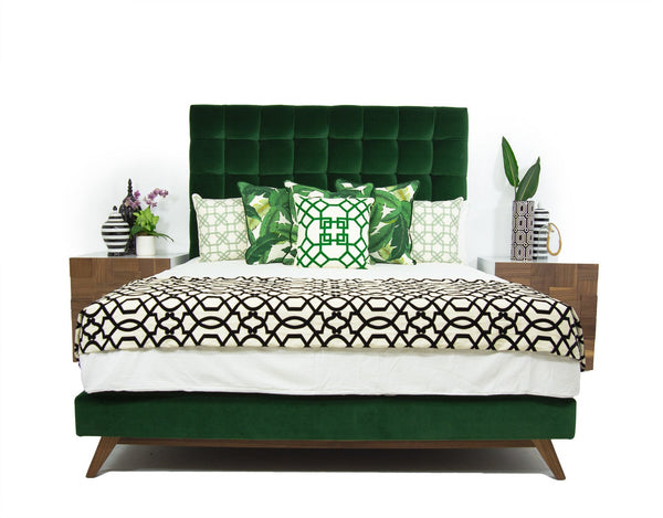 Delano Bed In Como Emerald Velvet Modshop