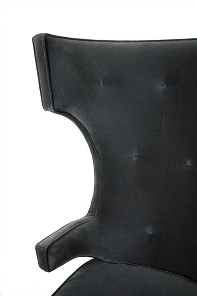Trousdale Wing Chair in Boulevard Graphite Velvet.
