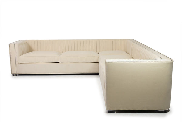 Buenos Aires Sectional in Cream Velvet - ModShop1.com
