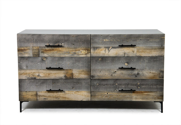 Black Santiago Dresser with Dark Grey Recycled Wood