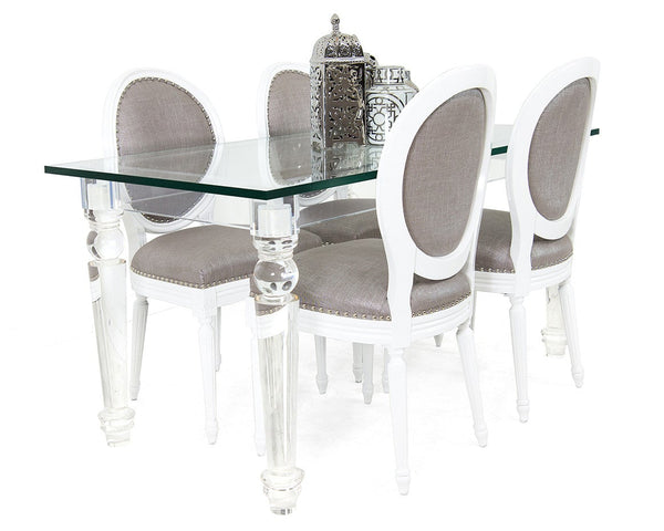 Beverly Hills Lucite Mini Dining Table - ModShop1.com