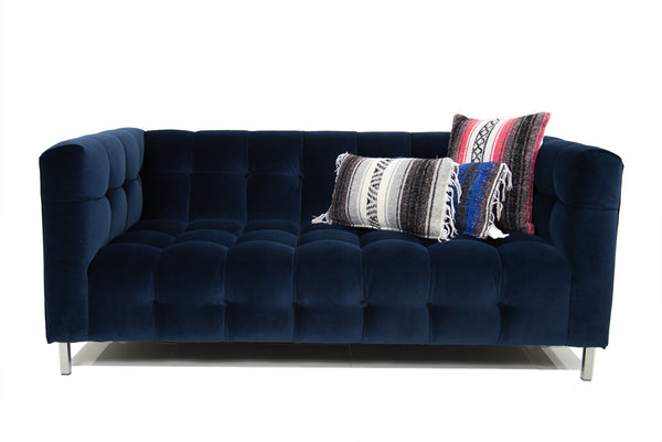 Delano Loveseat in Navy Velvet