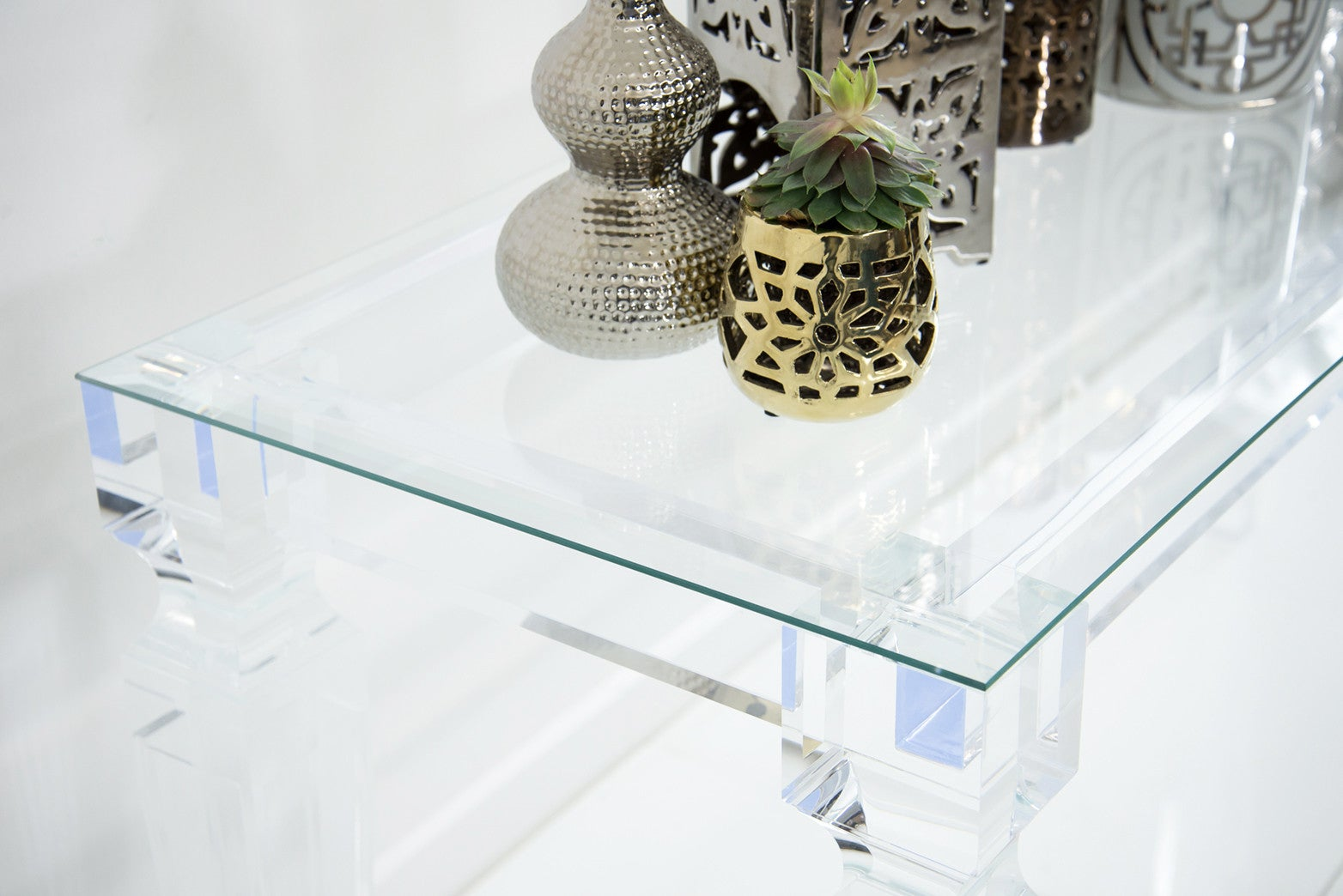 lucite console table. Lucite Console Table