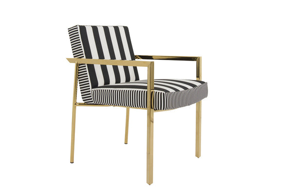 Argentina Dining Chair in Stripes - ModShop1.com