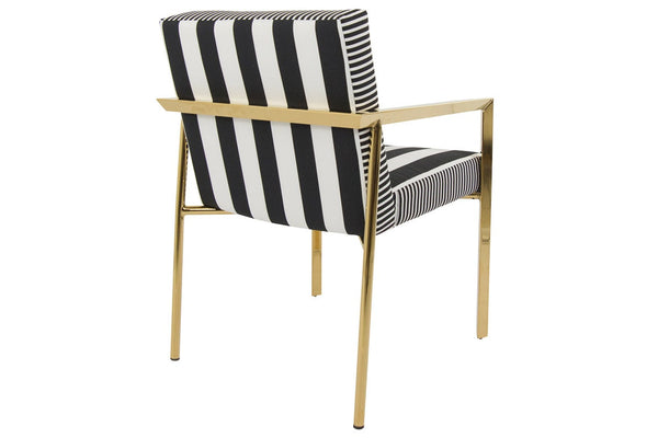 Back View of Argentina Chair in Stripes