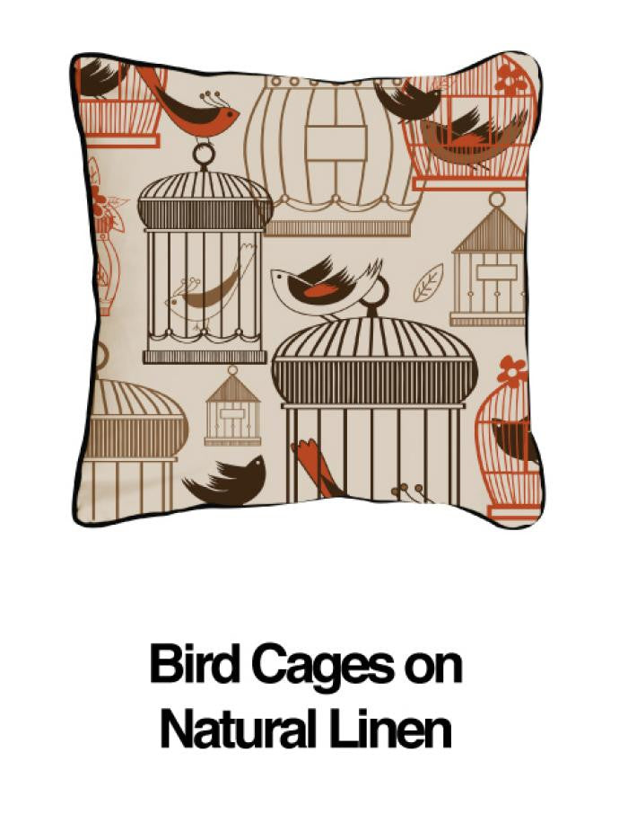 Bird Cages Orange Oatmeal - ModShop1.com