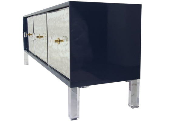 Juliette 3 Door Credenza in Navy