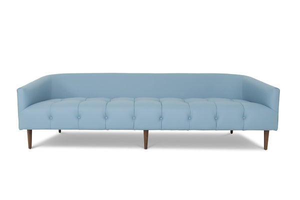 St. Barts Sofa in Dreamer Powder Blue Leather - ModShop1.com