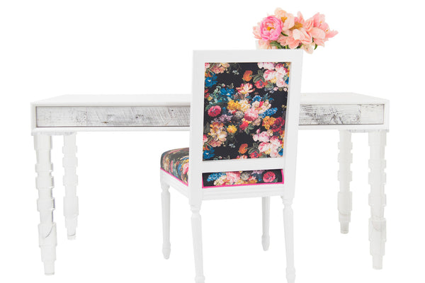 Cody Desk in White Washed Recycled Wood
