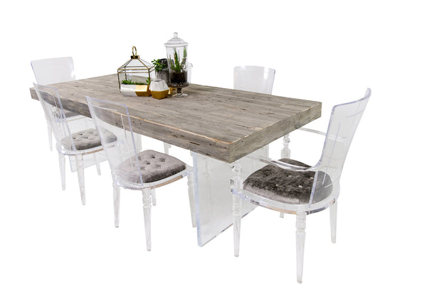 Cody II Dining Table in Grey Recycled Wood