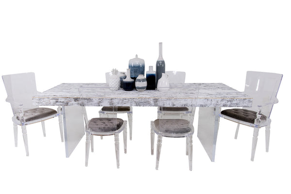 Cody II Dining Table in White Washed Recycled Wood