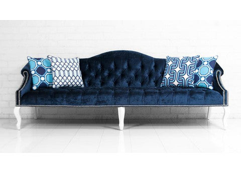 Mademoiselle Sofa in Brussels Midnight Velvet