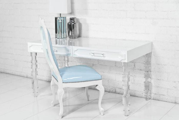 Hollywood Desk With Concord Lucite Legs