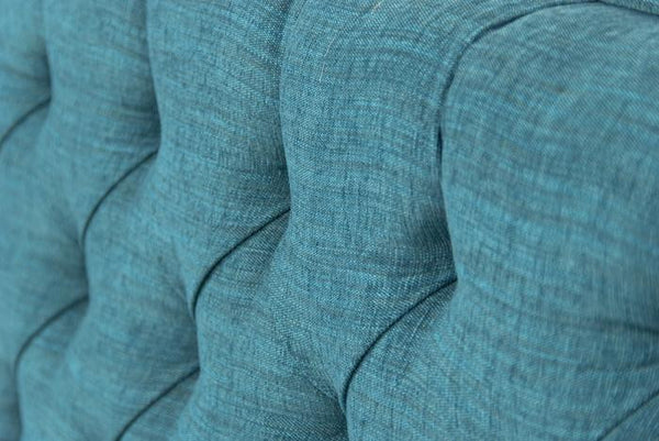 007 Tufted Sofa in Turquoise Textured Fabric
